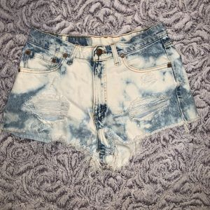 Vintage dyed/distressed Levi jean shorts